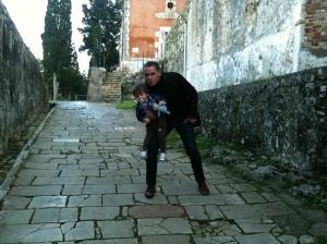 Jérome et Raphael Selosse à la forteresse de Corfu